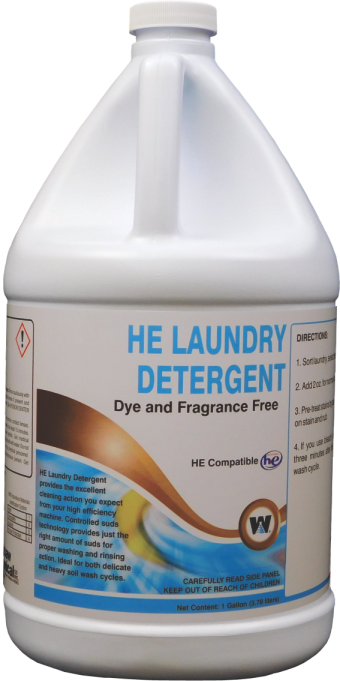 LAUNDRY DETERGENT H.E 4 GALLON CASE