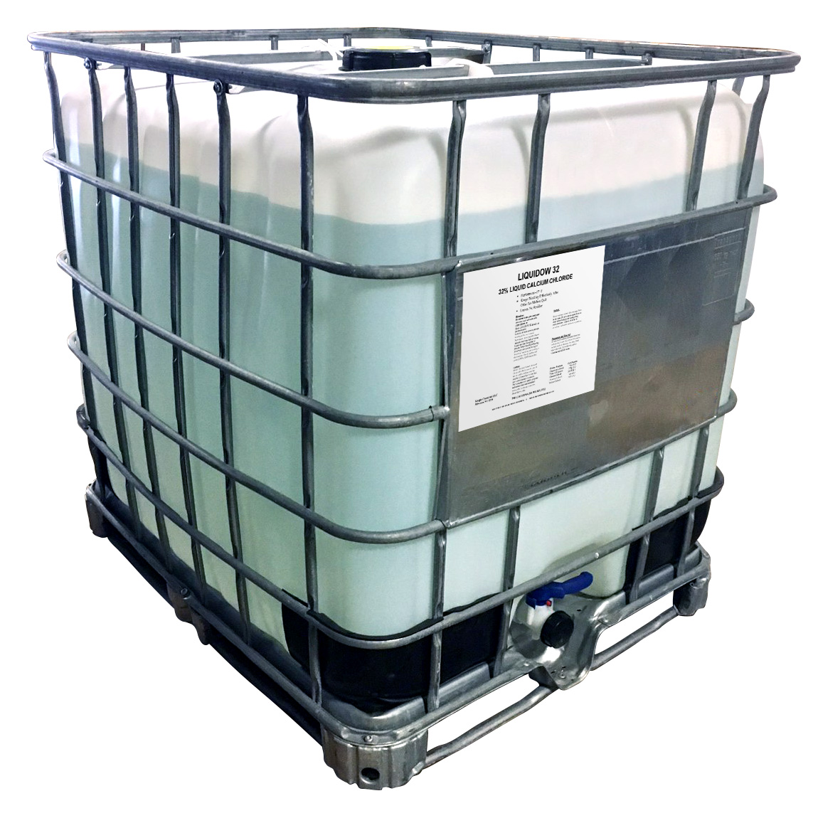 ICE MELT CALCIUM CHLORIDE LIQUID 250 GALLON TOTE 32%