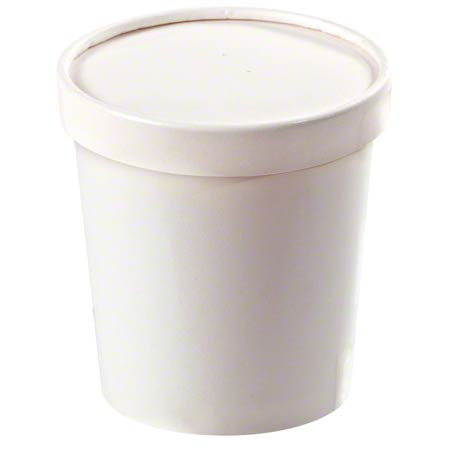 CONTAINER FOOD AND LID COMBO 32 OZ WHITE Inno-Pak 250 PER