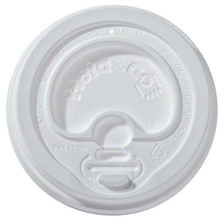 LIDS HOLD AND GO 12OZ-20OZ HOT CUP DOME PLASTIC WHITE 1200