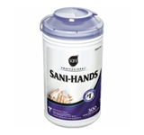WIPES SANI-HANDS WIPES FOR FOOD SERVICE 6 CANISTERDS OF