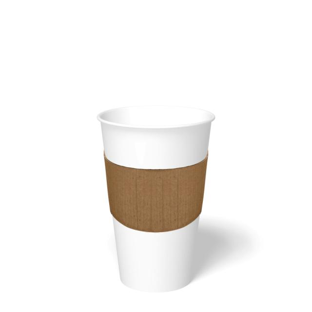 CUP SLEEVE BUDDY HOT CUP ECO KRAFT FITS 10 OZ TO 24 OZ Cups