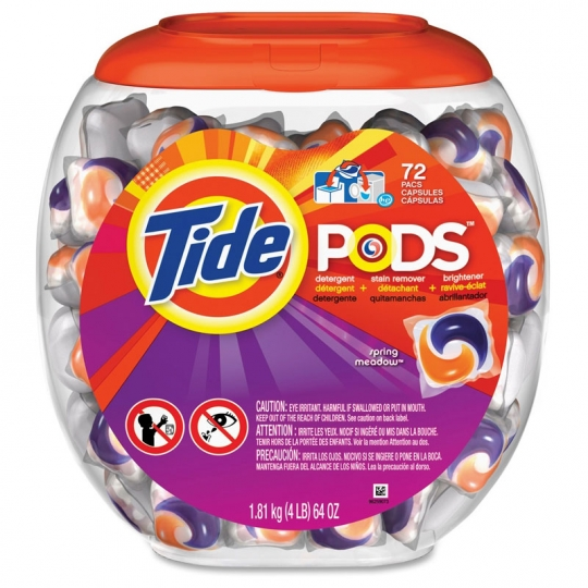 LAUNDRY DETERGENT TIDE PODS SPRING MEADOW SCENT 72 PER