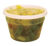 DELI CONTAINER AND LID COMBO 16 OZ CLEAR, PE, MICROWAVABLE