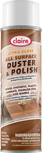 ALL SURFACE DUSTER & POLISH  CITRA GLOSS AEROSOL 20 OZ CAN