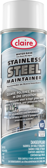 STAINLESS STEEL CLEANER & POLISH WATER BASED 20 OZ