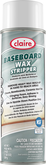 BASEBOARD WAX STRIPPER CLEANER & WAX 20 OZ CAN (12
