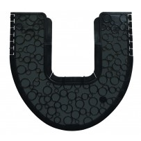 URINAL MAT COMMODE 2.0 BLACK ON BLACK FOR GROUND BASED