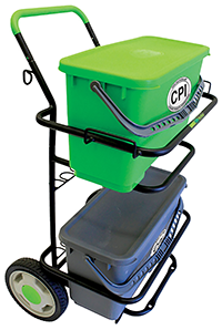 CART DOLLY METAL WITH 6 GALLON BUCKET AND SEALED LID ( LIME