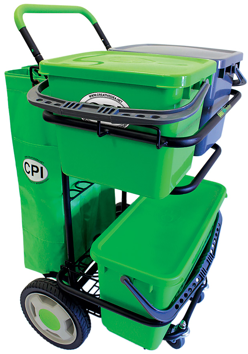 CART METAL WITH 6 GALLON BUCKET AND SEALED LID (LIME