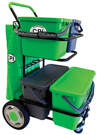 CART DOUBLE METAL DOLLY W/ 2 -6 GAL BUCKETS W/ SEALED LID (