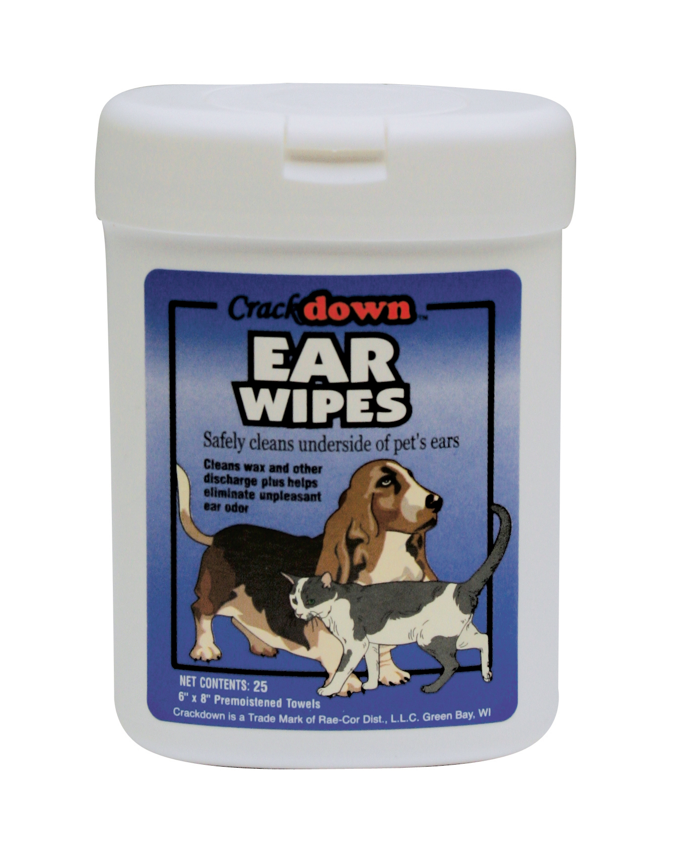EAR WIPES - 25 COUNT CANISTER