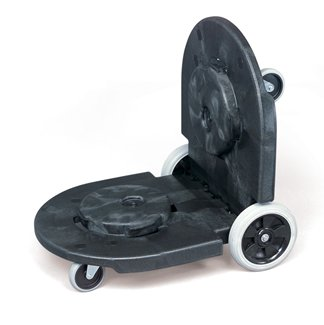 "DOLLY TANDEM BLCK 45 X 20 1/4 X 8 W/8"" WHEELS& CASTERS"