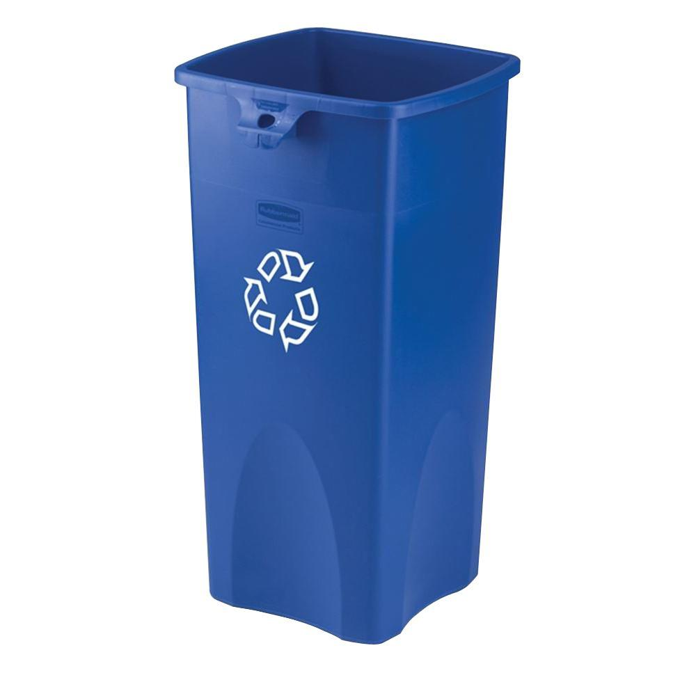 TRASH CAN 23 GALLON BLUE SQUARE