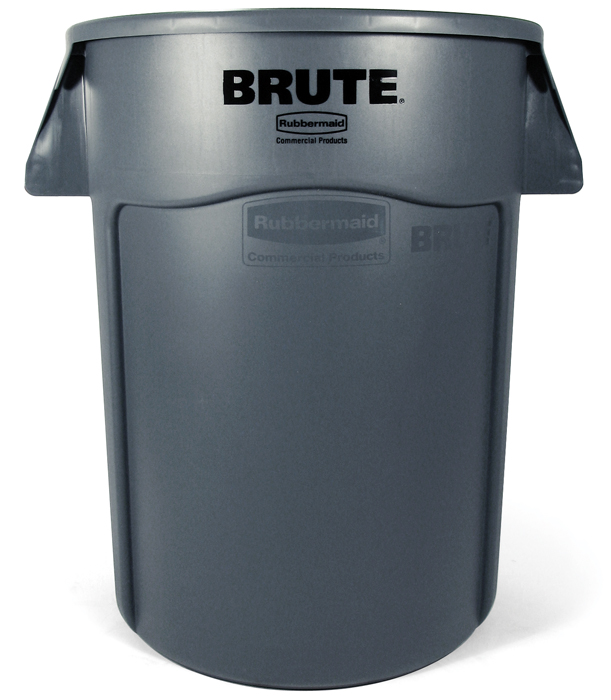 TRASH CAN 44 GALLON GRAY ROUND BRUTE