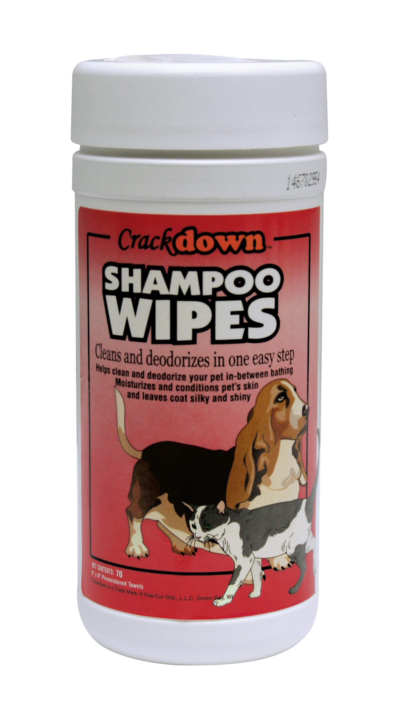 SHAMPOO WIPES - 70 COUNT CANISTER