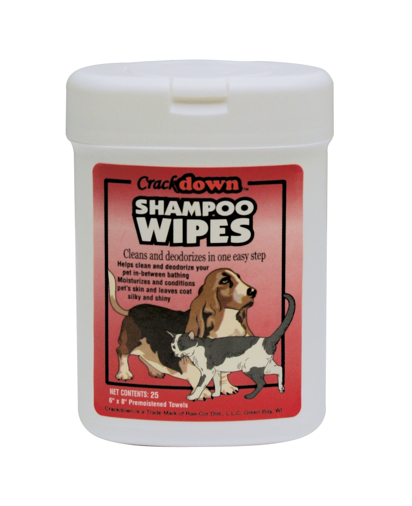 SHAMPOO WIPES - 25 COUNT CANISTER